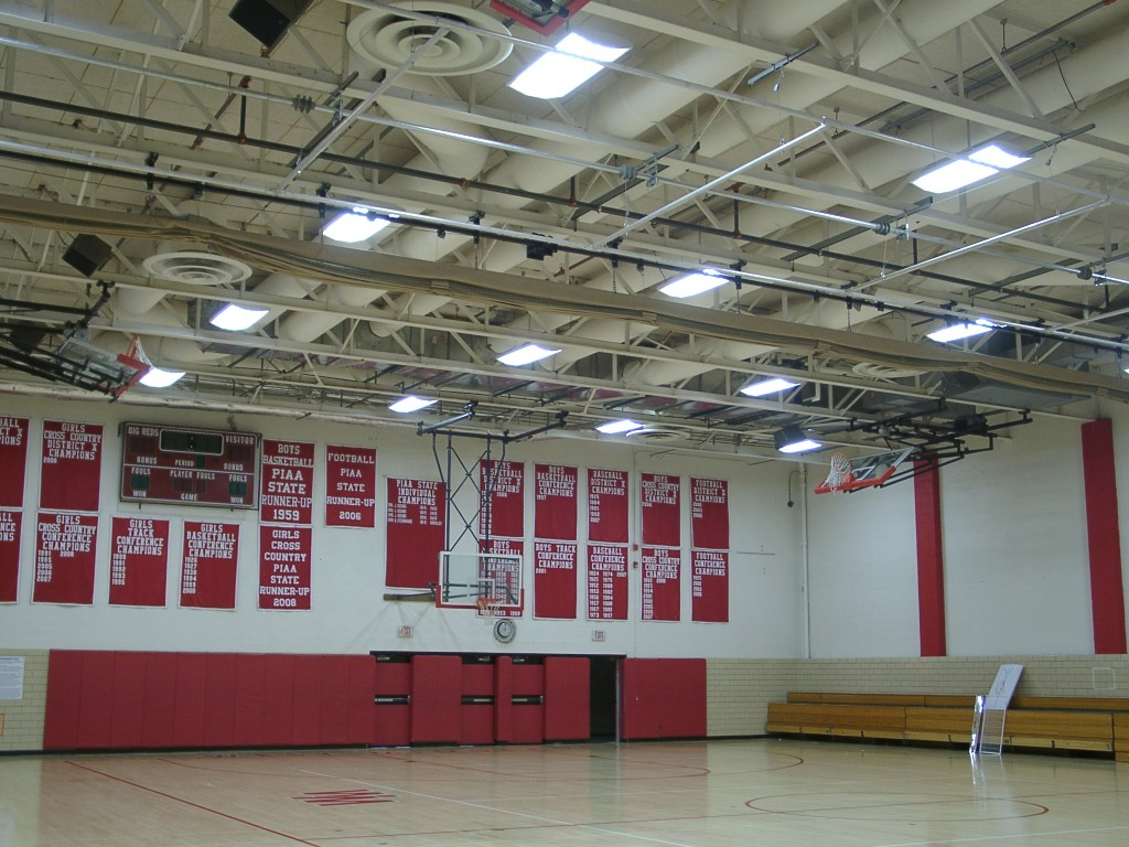 West middlesex highschool gym commercial led lighting fixtures and west middlesex highschool gym aloadofball Gallery