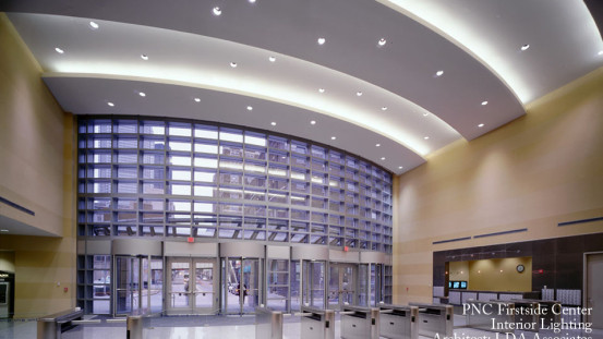 Residential led light fixtures commercial led lighting company pnc first side pittsburgh pa aloadofball Gallery