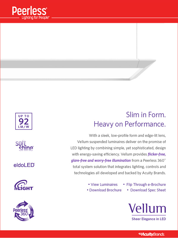 Vellum Peerless LED Lighting Solutions Info Guide