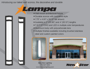 Lampa Wall Sconce LED Light Fixture