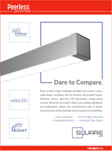 Peerless Soft Shine - NEW Square LED Lighting From Peerless Details Sheet
