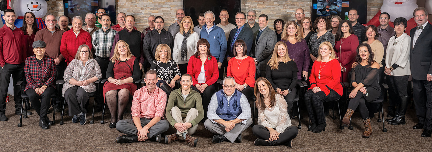 Laface and Mcgovern lighting reps Pittsburgh team photo