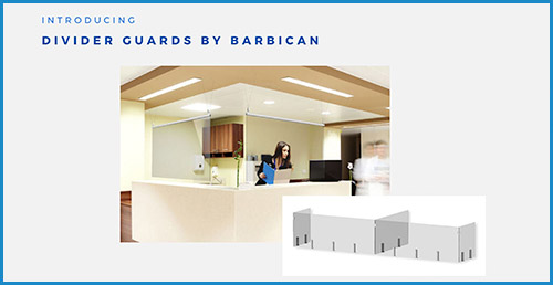 Barbican divider guards for lighting spaces