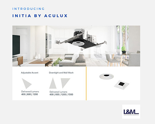 Initia Aculux new led lighting product ad