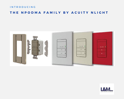 NPODMA Family Acuity Nlight new led lighting product ad