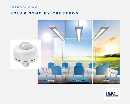 Solar Sync Crestron new led lighting product ad