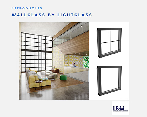 Wallglass Lightglass new led lighting product ad