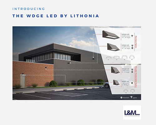 WDGE Lithonia new led lighting product ad