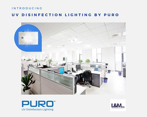 Puro uv disinfection lighting ad