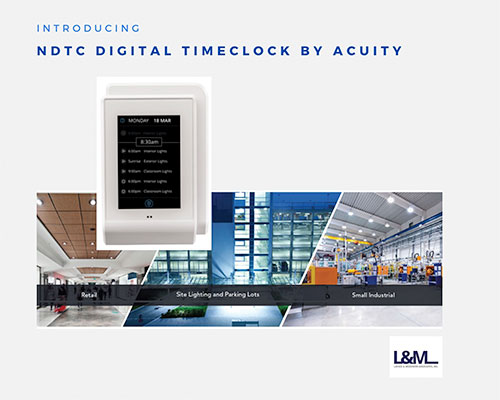 NDTC Digital Timeclock system by Acuity lighting ad
