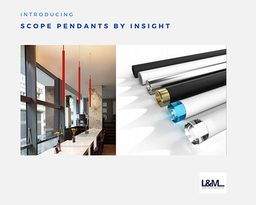 Scope pendants by Insight Lighting ad