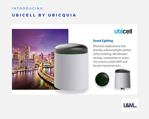 Ubicell by Ubicquia lighting ad