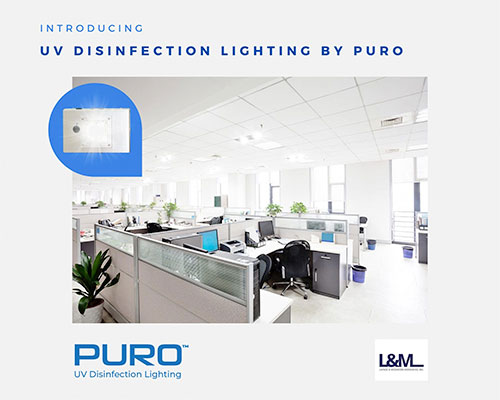 Puro uv disinfection lighting ad