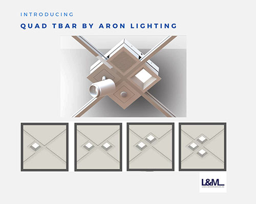 Quad Tbar by Aron Lighting ad