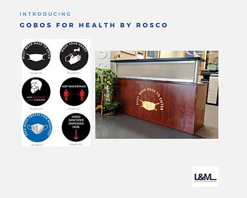 gobos for health by rosco lighting