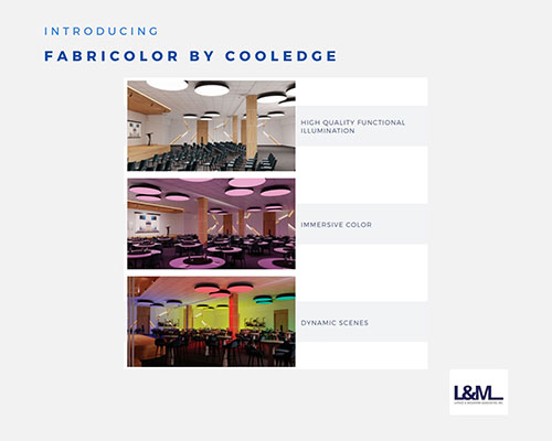fabricolor by cooledge lighting ad