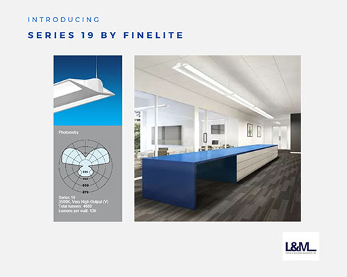 series 19 by finelite lighting ad