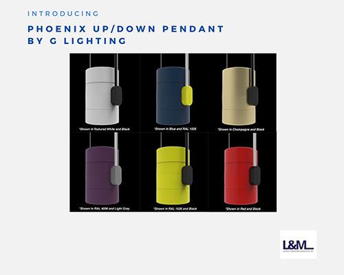 phoenix up / down pendant G lighting solutions ad