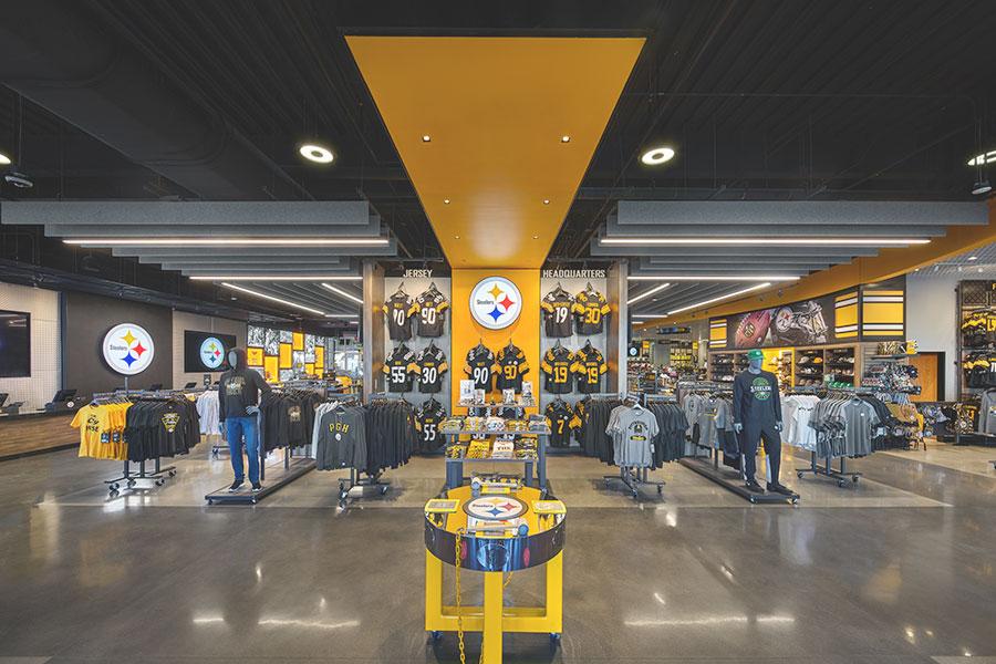Steelers pro shop at heinz field, interior